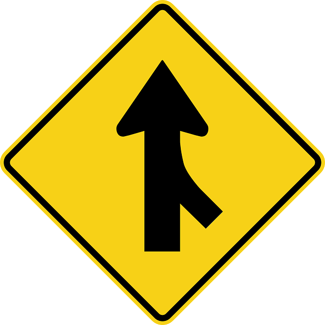 Merge Ahead sign