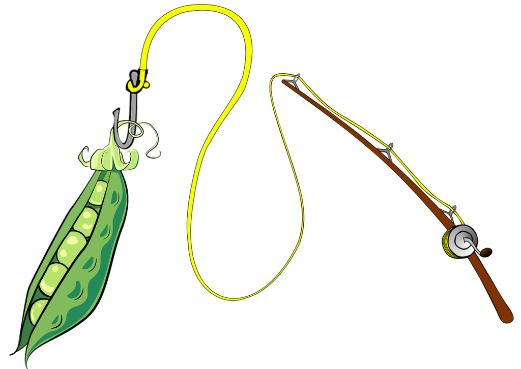 Podcast: A fishing rod casting a pea pod
